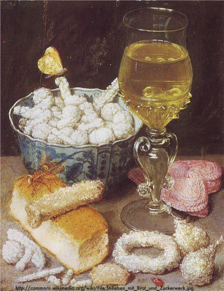 Georg Flegel: Stilleben mit Brot und Zuckerwerk, Städel Museum .Georg Flegel [Public domain], via Wikimedia Commons